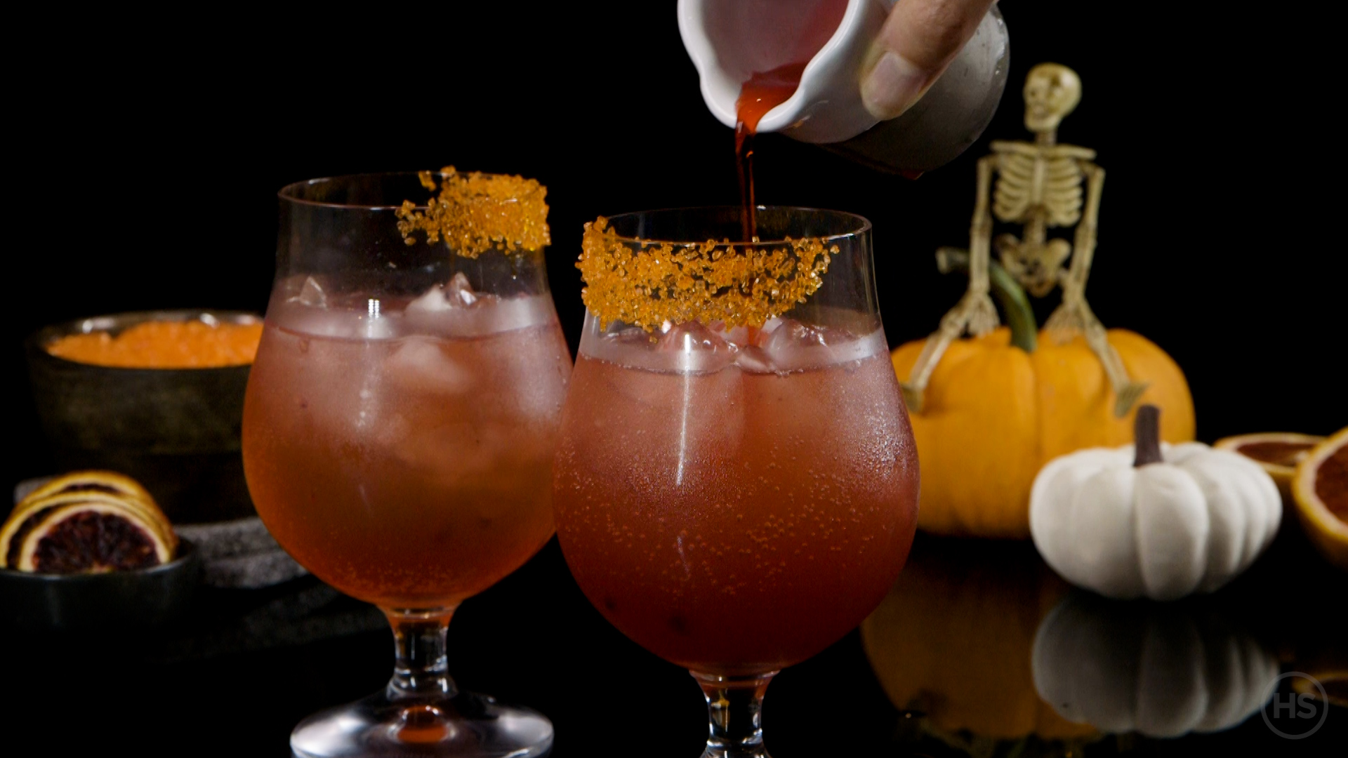 How add grenadine to a-halloween cocktail