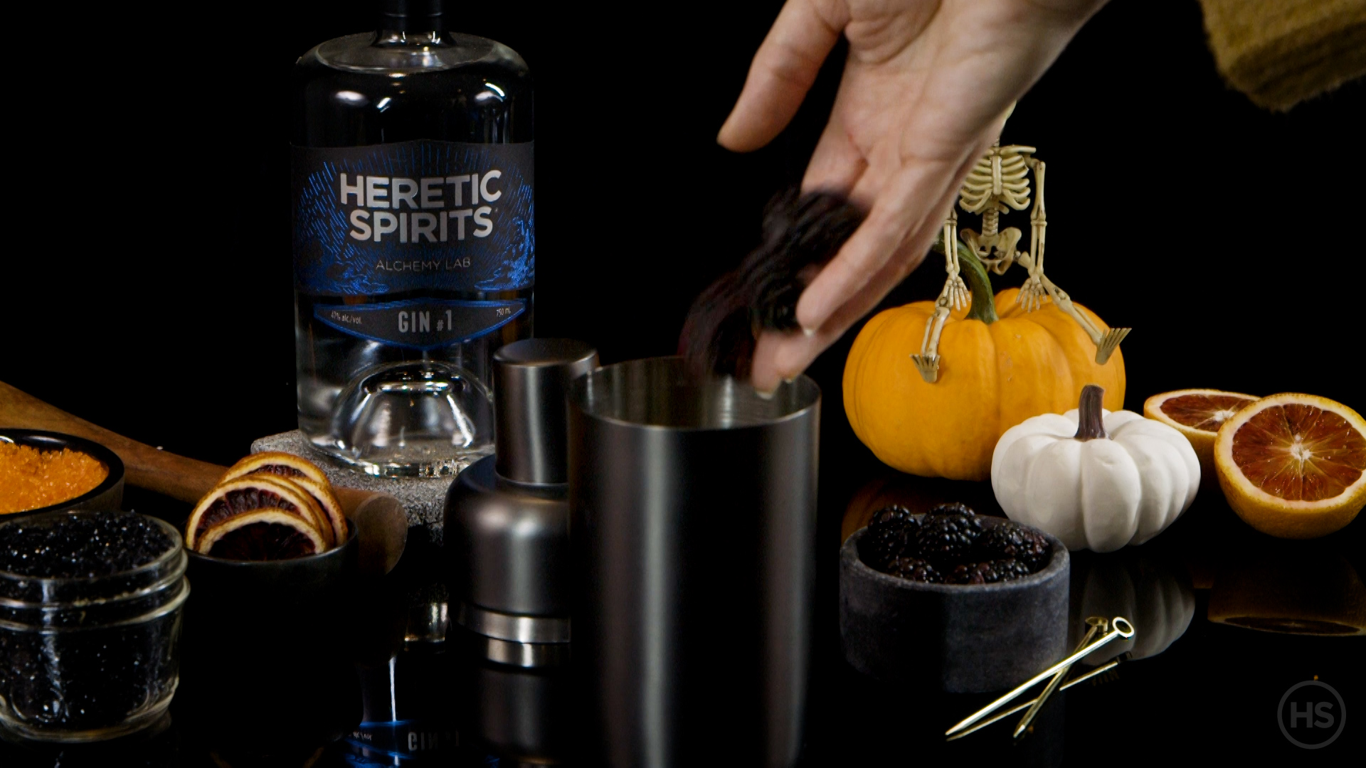 What fruits to add to a halloween cocktail