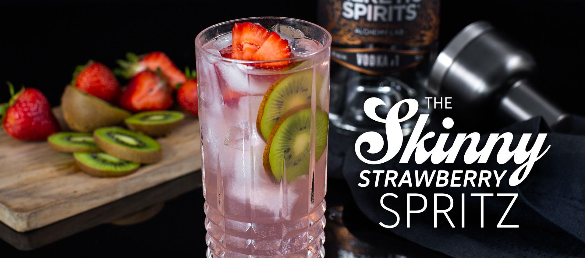Vodka soda cocktail