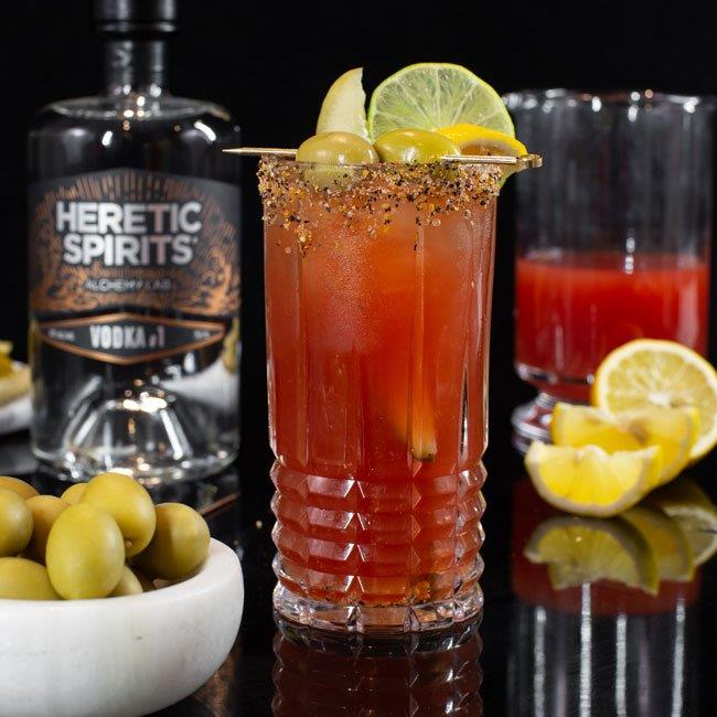 Bloody caesar cocktail - Heretic Spirits